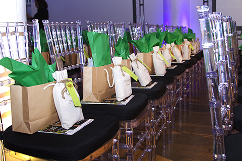 Integrity Botanicals Swag Bags waiting for attendees. Photo by Chelsea Ross