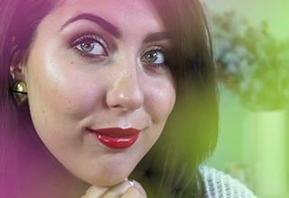 green bunny - ashley - holiday makeup look